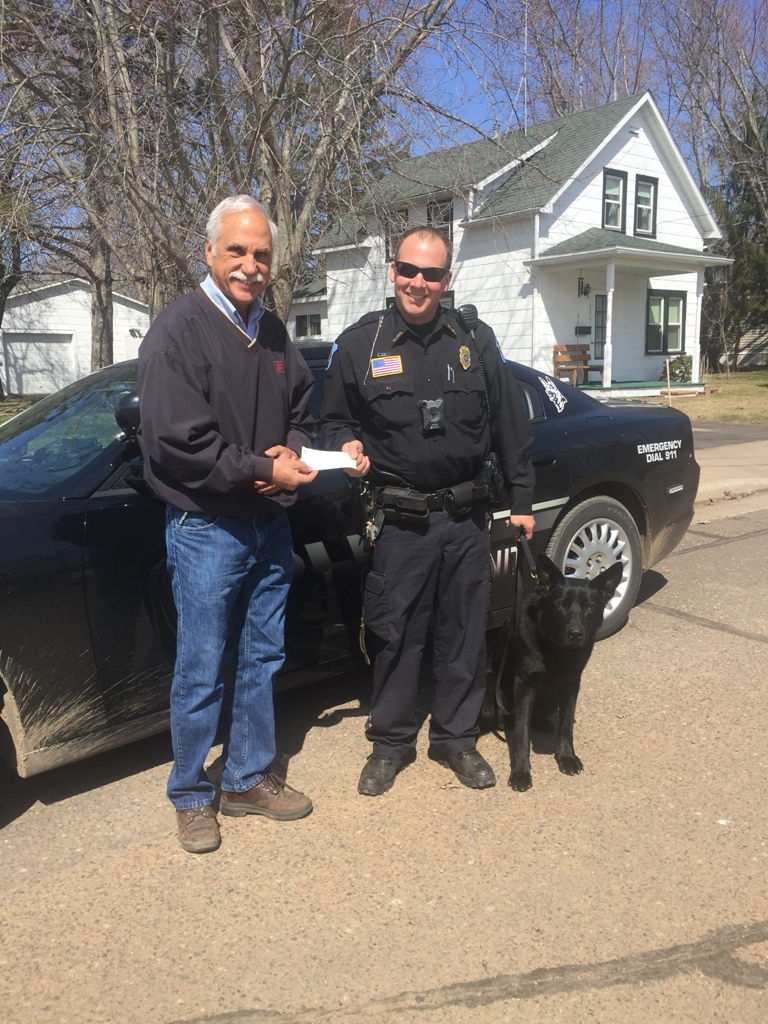18 04 Association Donation to Turtle Lake Police Small
